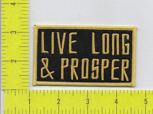 "Star Trek: catch phrase ""Live Long & Prosper"" Patch"