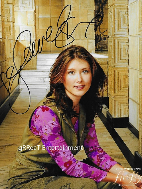 Jewel Staite autographed 8 in x 10 in. Photo