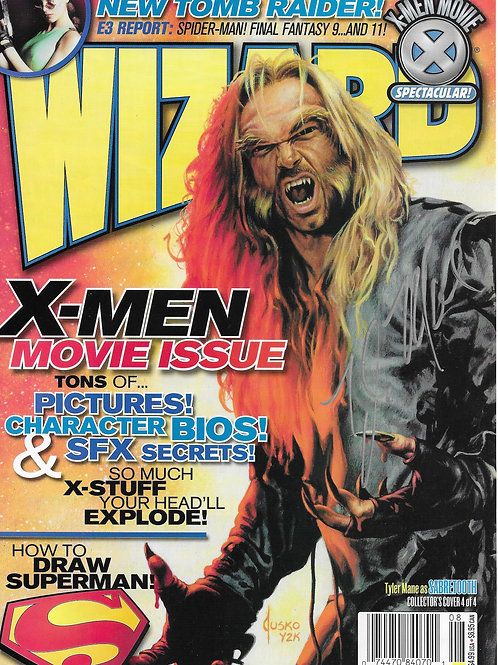 Tyler Mane autographed 7 in x  10.250 in magazine page