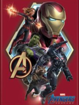 Avengers Endgame: Group on Red Photo