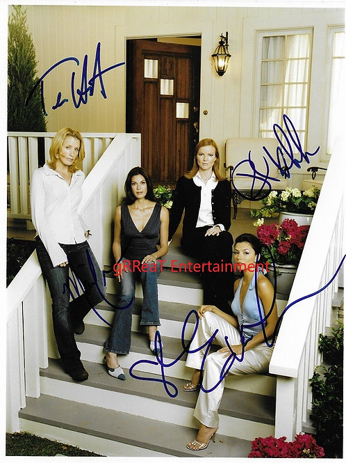 Desperate Housewives 4 autographed 8 in x 10 in photo