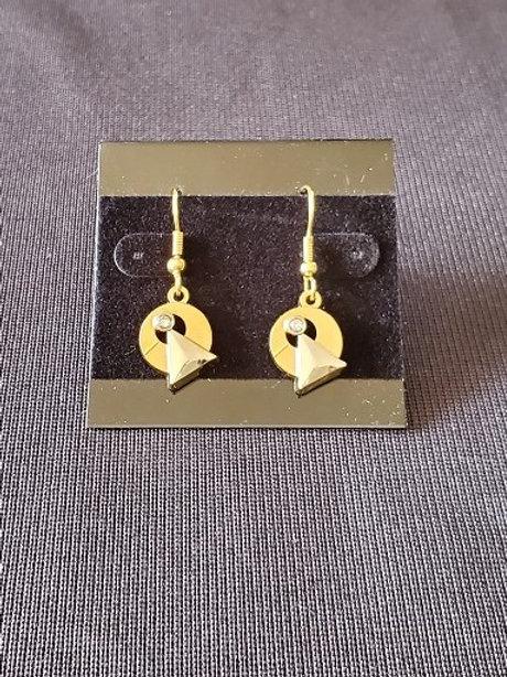 Star Trek: Idic Emblem Gold Colored Earrings