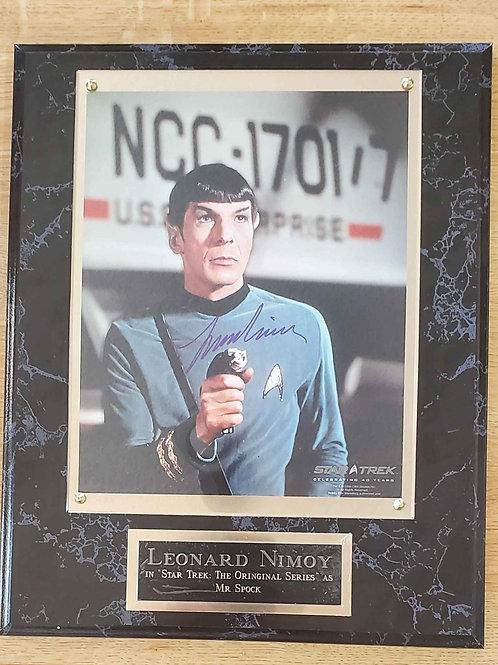 Autographed Leonard Nimoy  Super Deluxe Plaque