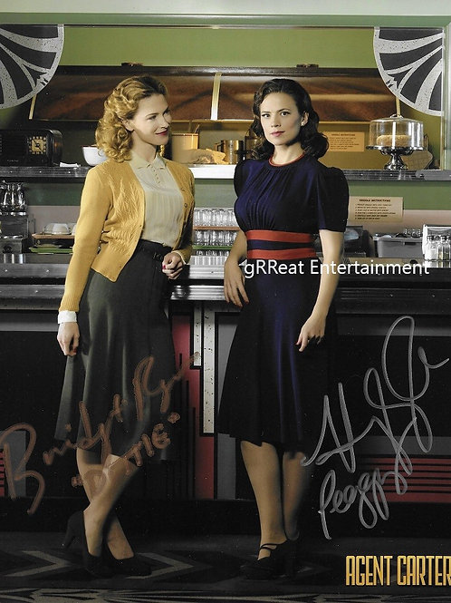 Bridget Regan and Hayley Atwell autographed 8 in x 10 in photo