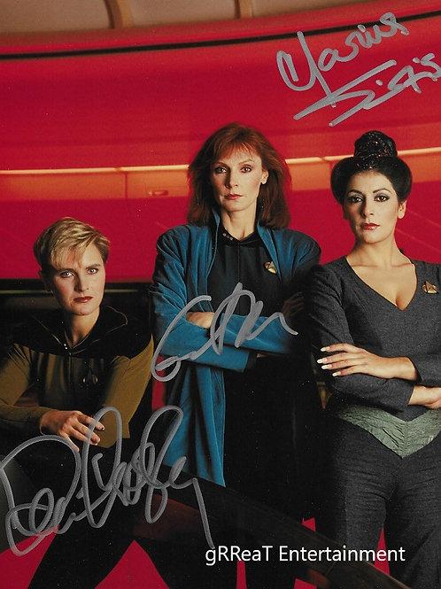 Next Gen Ladies Trio autographed 8 in x 10 in photo