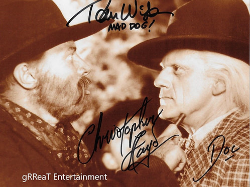 Back To The Future Double autographed 10 in x 8 in photo