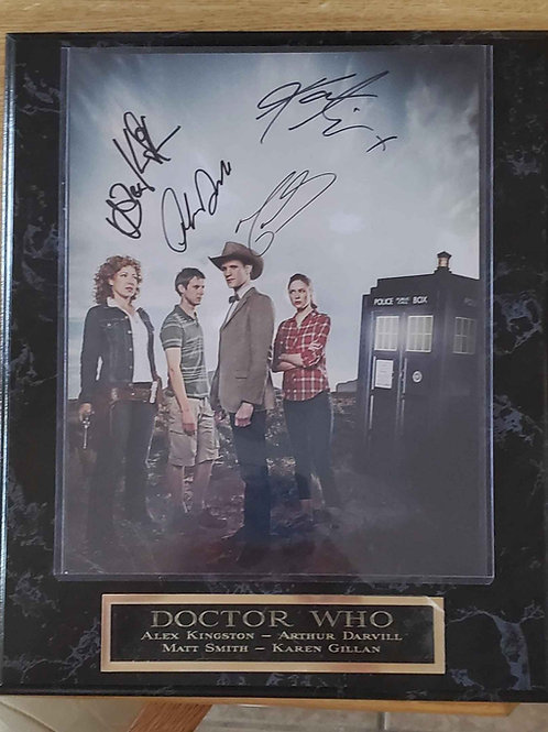 Doctor Who Plaque - 4 signatures