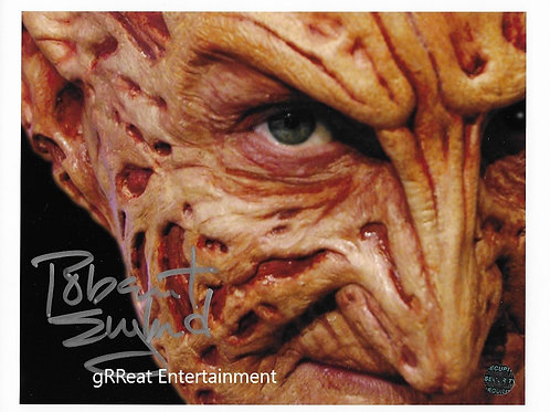 Robert Englund autographed 10 in x 8 in photo