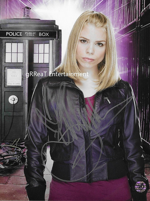 Billie Piper autographed 8 in x 10 in photo