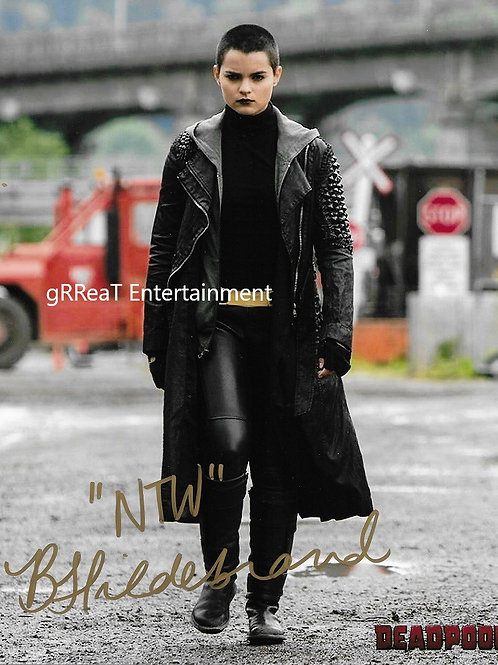 Brianna Hildebrand autographed 8 in x 10 in photo