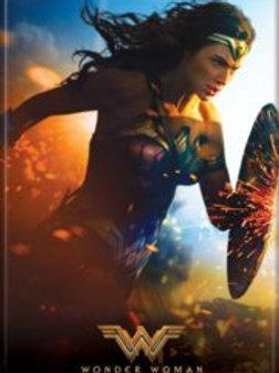 Wonder Woman Running with Shield