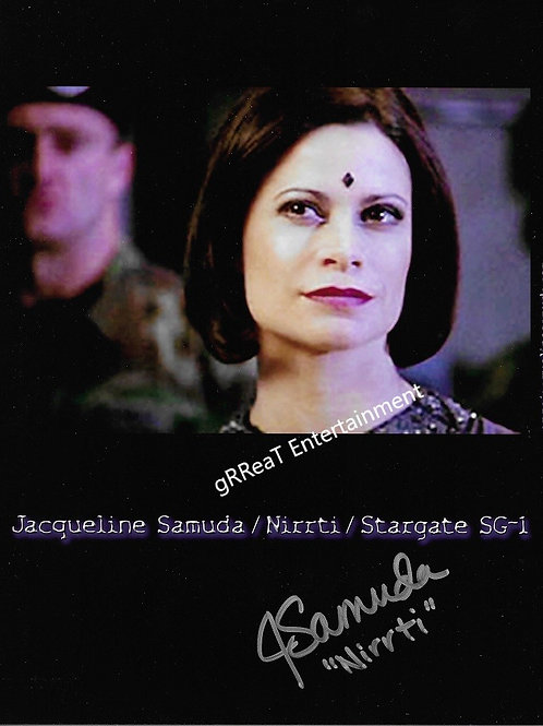 Jacqueline Samuda autographed 8 in x 10 in photo