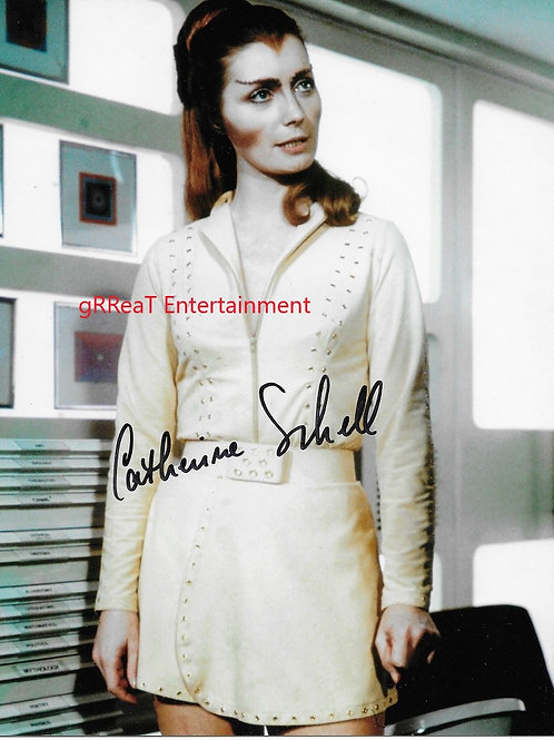 Catherine Schell autographed 8 in x 10 in photo