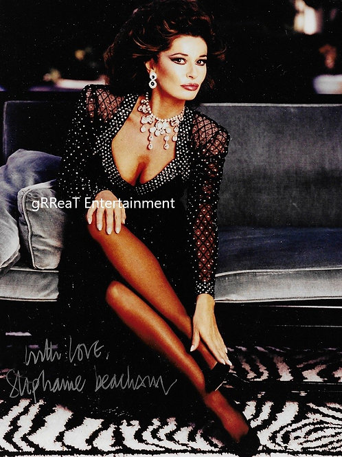Stephanie Beacham autographed 8 in x 10 in photo