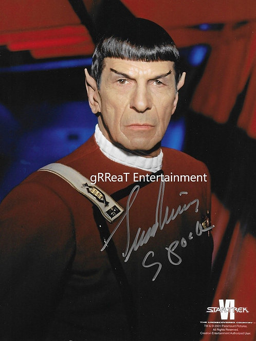 EXTREMELY RARE Leonard Nimoy autographed 8 in x 10 in photo