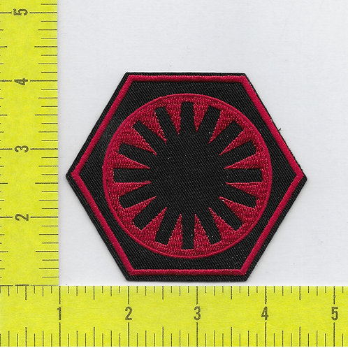 Star Wars: First Order Thorn Cog Flatback RED Patch