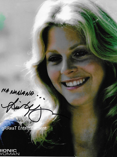 Lindsay Wagner autographed 8 in x 10 in photo