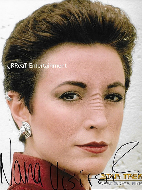 Nana Visitor autographed 8 in x 10 in photo