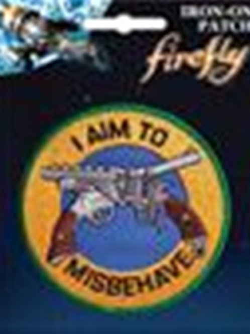 Firefly TV series: I am to Misbehave Pistols Logo Licensed Patch