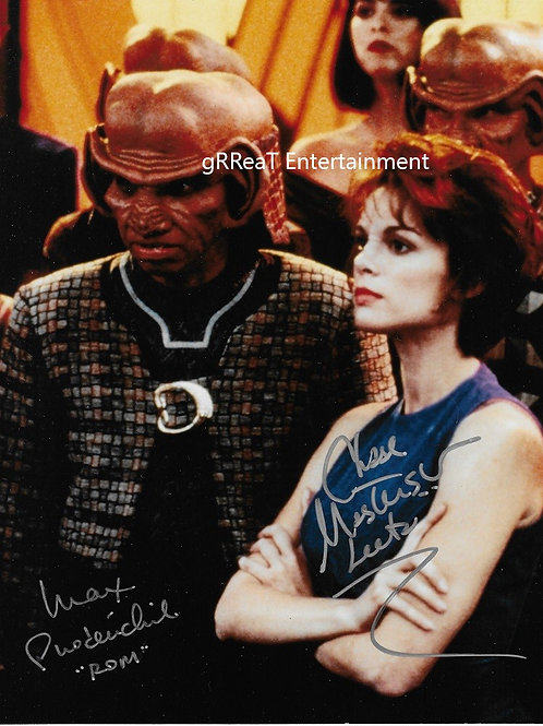 Grodenchik and Masterson autographed 8 in x 10 in photo