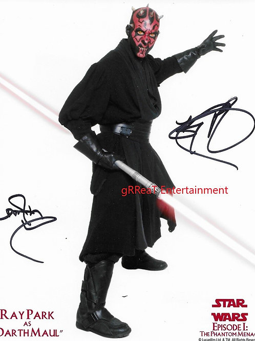 Ray Park autographed 8 in x 10 in photo