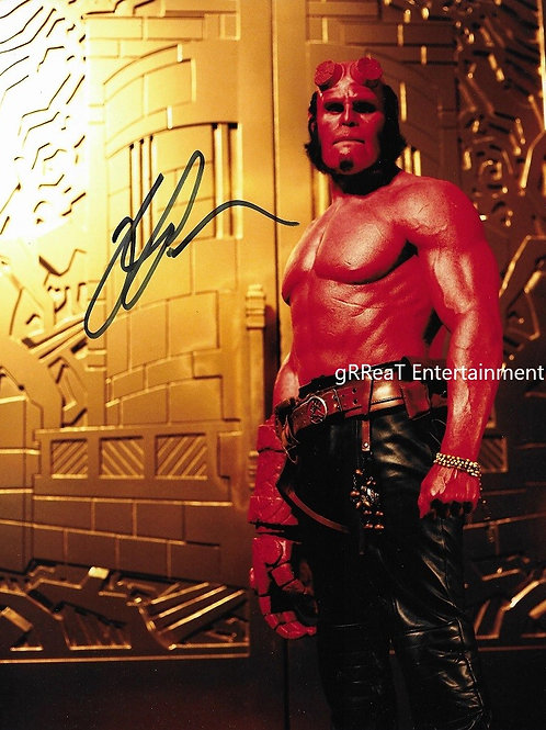 Ron Perlman autographed 8 in x  10 in photo