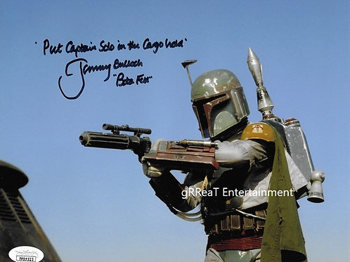 Jeremy Bulloch autographed 10 in x 8 in photo