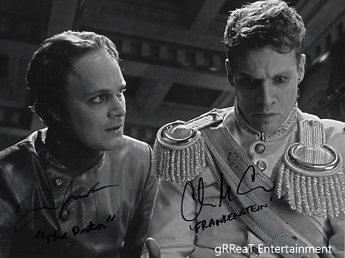 Chad Michael Collins and David Anders autographed 10 in x 8 in photo