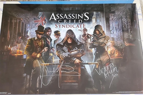 Assassin's Creed autographed 22.5 in x 34 in poster