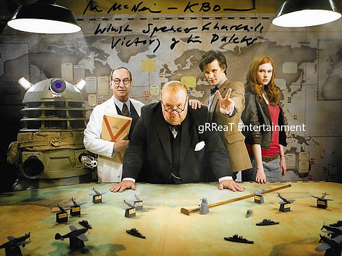 Ian McNeice autographed 10 in x 8 in photo