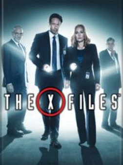 The X-Files TV series Name Logo over Cast Photo