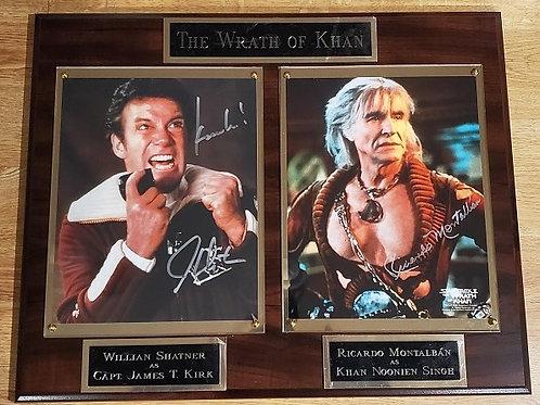 Autographed Wrath of Khan Double Cherry Plaque