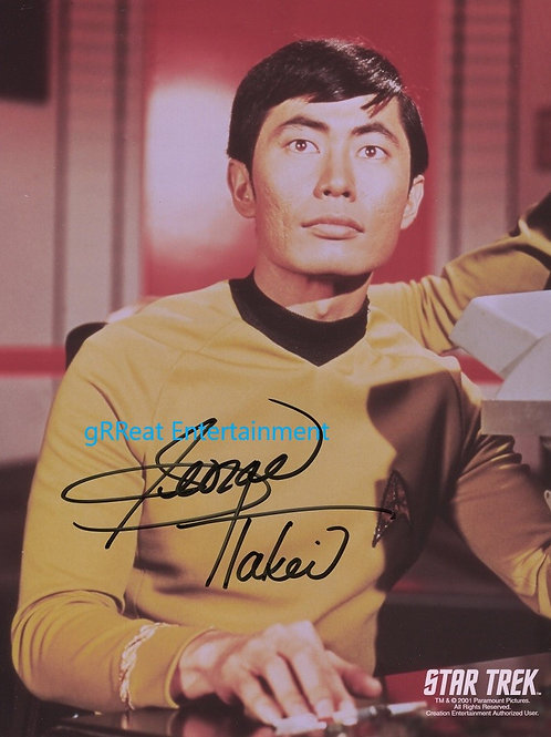 George Takei autographed 8 in x 10 in photo
