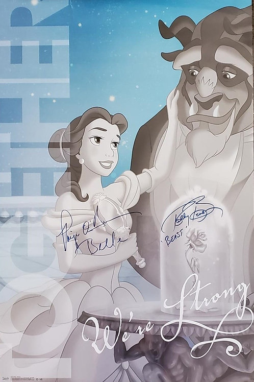 Beauty and The Beast autographed 22.5 in x 34 in poster