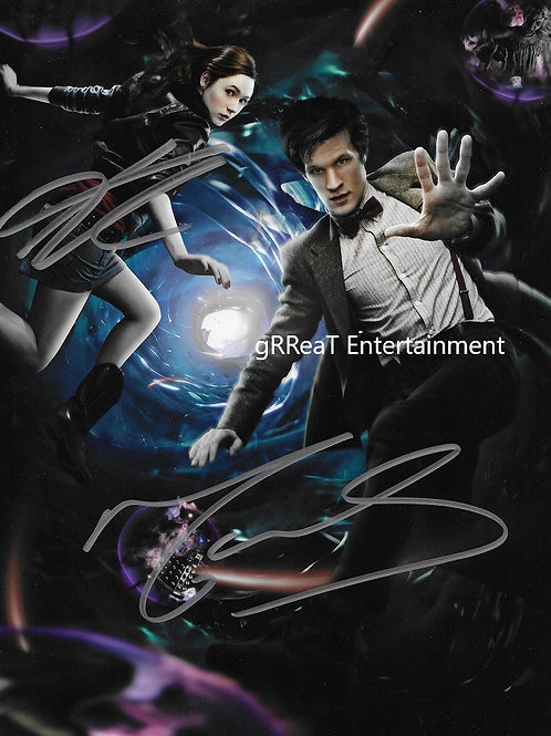 Karen Gillan and Matt Smith autographed 8 in x 10 in. Photo