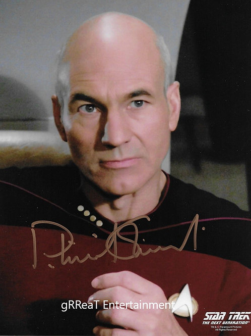 Patrick Stewart Autographed 8 in x 10 in. Photo