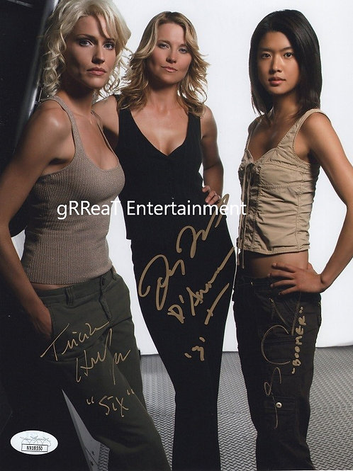 Battlestar Galactica Trio autographed 8 in x 10 in photo