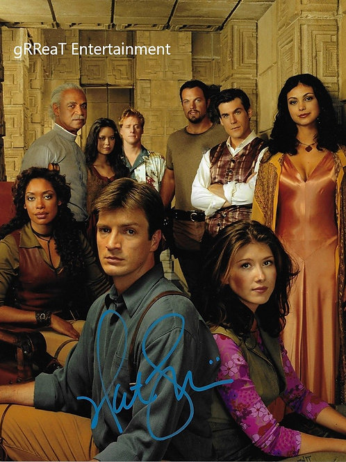 Nathan Fillion   Autographed 8 in x 10 in. Photo
