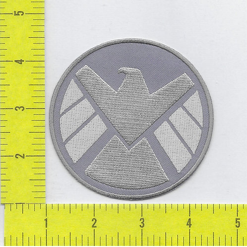Agents of S.H.I.E.L.D. TV series Silver and Grey Logo Left Faci