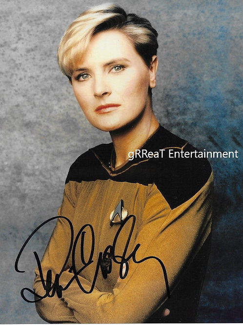 Denise Crosby autographed 8 in x 10 in photo