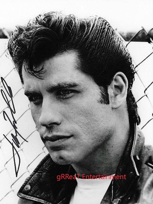 John Travolta autographed 8 in x 10 in. Photo