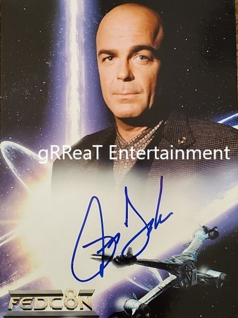 Jerry Doyle autographed 8.250 in x 11.5 in photo