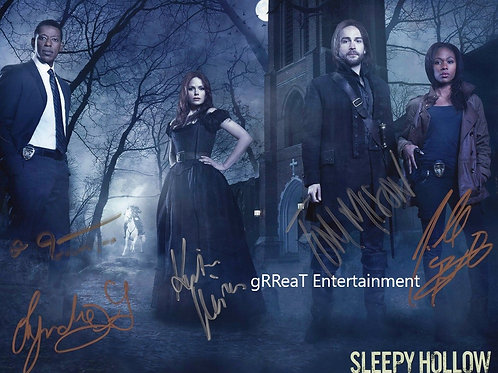 Sleepy Hollow Cast autographed 10 in x 8 in photo