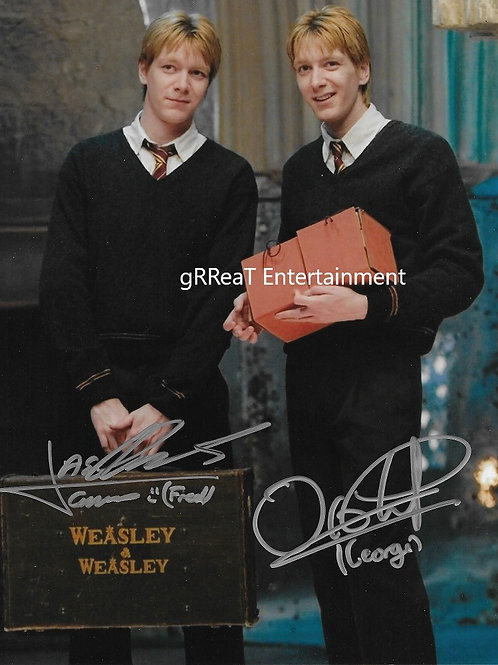 James and Oliver Phelps autographed 8 in x 10 in. Photo