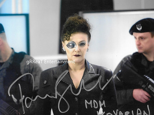 Frances Barber autographed 10 in x 8 in photo