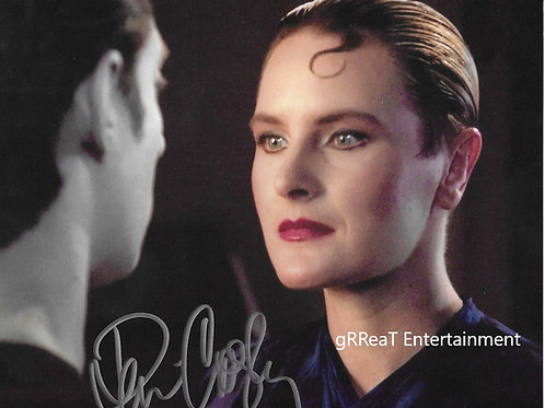 Denise Crosby autographed 10 in x 8 in photo