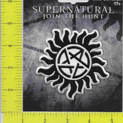Supernatural Anti-possession LINCENSED Logo Patch white border