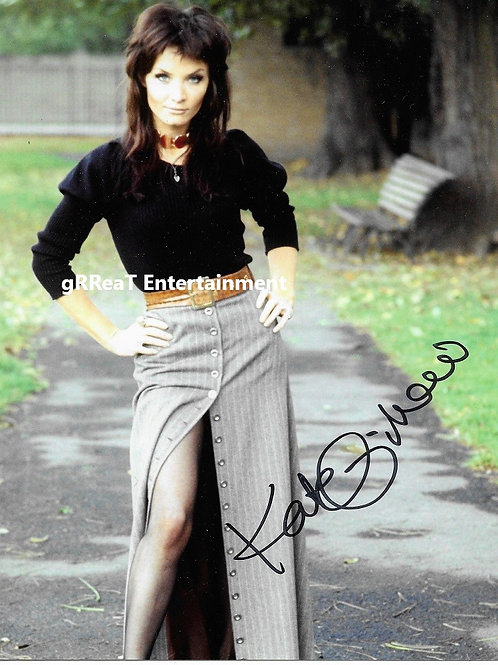 Kate O'Mara autographed 8 in x 10 in photo