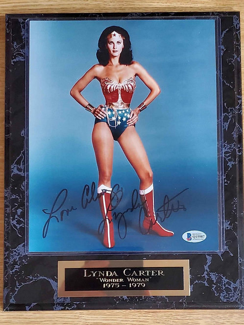 Autographed Lynda Carter on a Standard Plus Plaque