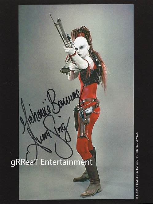 Michonne Bourriague autographed 8 in x 10 in photo